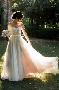 Chiffon Tulle Lace Organza Satin Taffeta Wedding Dress