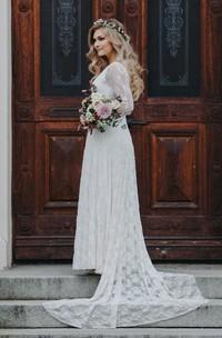Chiffon Jersey Satin Sash Ribbon Lace Wedding Dress