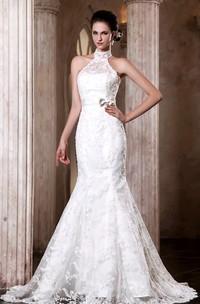 Adorable Sleeveless Siren Elegant Dress With Bowed Sash