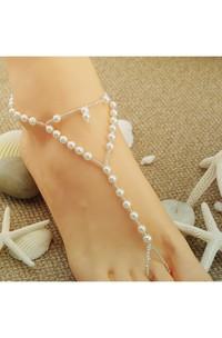 Summer Heart Pearl Handmade Beaded Bracelet 40Cm