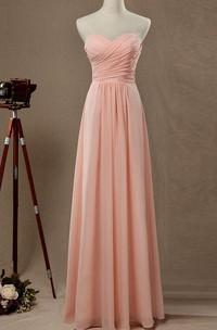 Empire Strapped Sweetheart Empire Chiffon&Satin Dress
