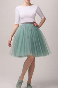 White Mint Tutu Skirt Tulle Dress