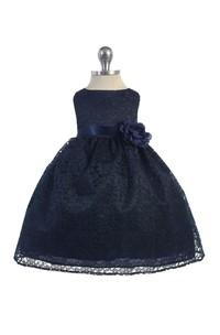 Sleeveless Bateau Neckline A-line Lace Pageant Dress With Flower Belt