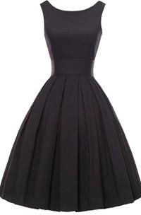 Sleeveless A-line Knee-length Dress With Pleats