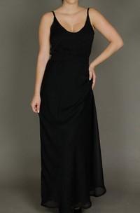 Long Sleeveless Sleeve Chiffon Dress