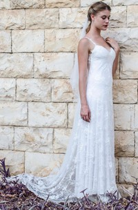 Mermaid Sweetheart Chiffon Tulle Lace Weddig Dress