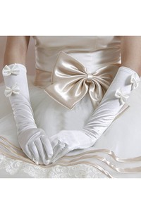 Double Bow Warm Long Gloves