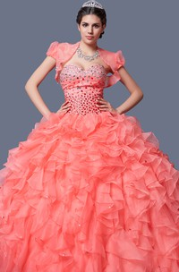Flowing Formal Gown With Ruffled Skirt Flattering Look Stylish Dress