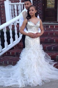 Gorgeous Sleeveless Sequins Prom Dresses 2018 Mermaid Tulle Evening Gowns