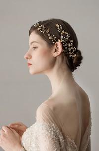 Western Style Golden Leaf Headbands