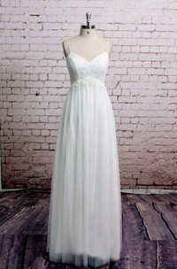 Spaghetti Strap Tulle Wedding Dress With Lace Corset
