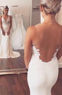 Noble Sleeveless Lace Appliques Wedding Dresses Mermaid on Sale