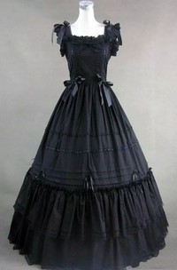 Ball Gown Square Floor-length Sleeveless Wedding Dress with Zipper Back
