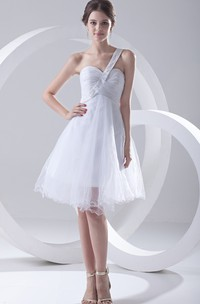 Sweetheart Sleeveless Crisscross Ruched Dress With Embellished Strap