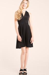 A-Line Short V-Neck Chiffon Dress With Straps