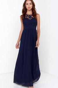 Stunning Sleeveless Empire Chiffon Gown With Keyhole Back