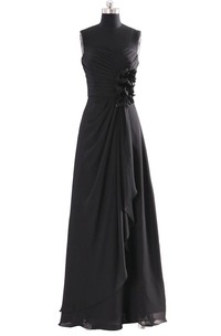 Sweetheart A-line Chiffon Gown With Flowers