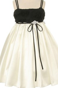 Sleeveless A-line Pleated Dress With Spaghetti Straps