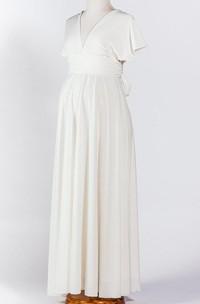 White Maternity Ivory Infinity Dress