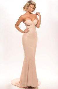 Sheath Sleeveless Floor-Length Sweetheart Sequins Prom Dress