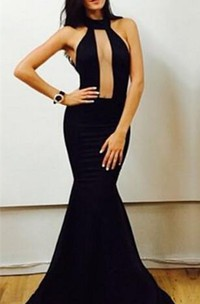 Sexy Black High-Neck Mermaid Prom Dresses 2018 Floor Length Evening Gowns