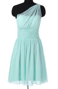 Short One-shoulder Chiffon Dress