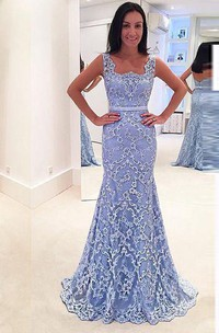 Mermaid Floor-length Appliques Lace Dress