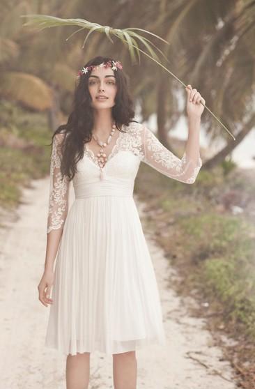 Short Bridal Dresses Tea Knee Length Wedding Gowns June Bridals