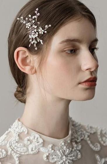 Simple Style Pearl Rhinestone Hair Pins